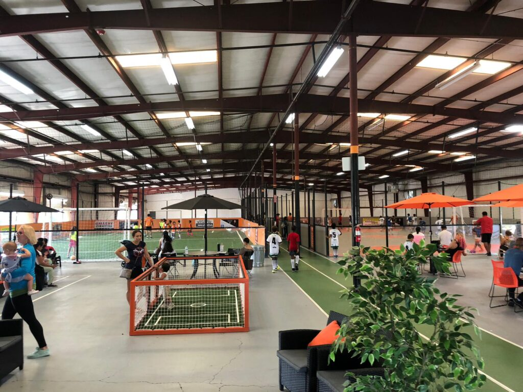 high soccer arena indoor facility